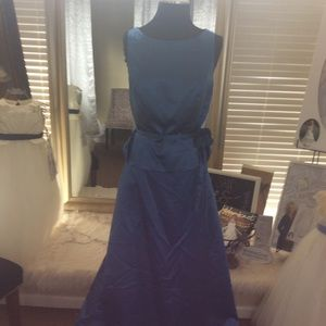Dresses & Skirts - Blue Satin 2pc Formal